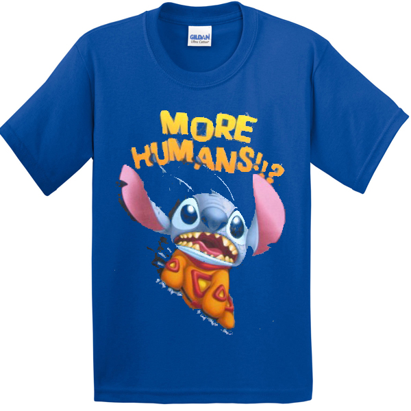 b8dd90bd1a7 More Human Lilo and stitch T-shirt - Basic tees shop