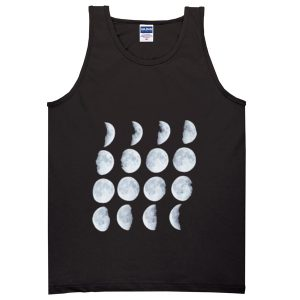 Phases of the Moon Adult tank top