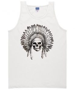 indian chief skull Tank top