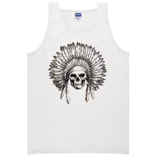 indian chief skull Tank top