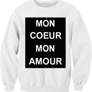 mon coeur mon amour Unisex Sweatshirts
