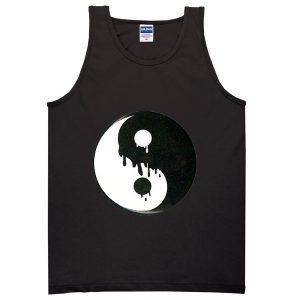 yin yang melted tanktop