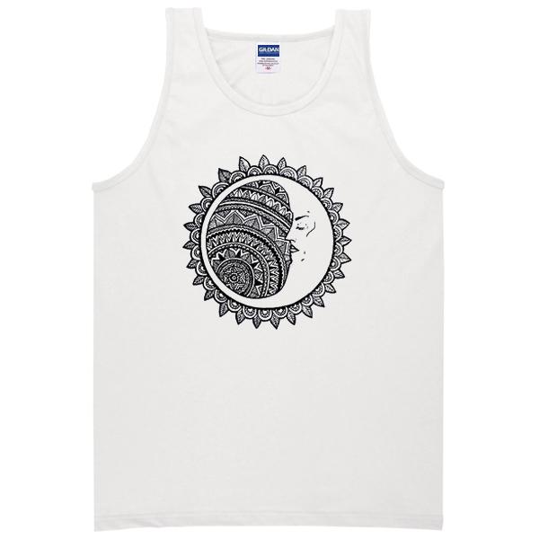 ying yang moon Tank Top