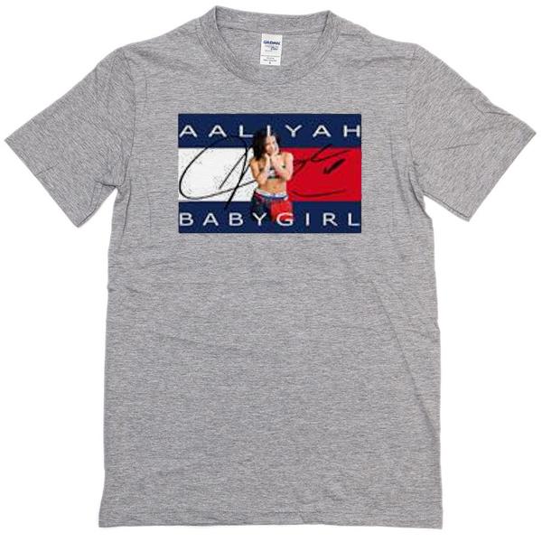 Aaliyah Babygirl grey T-shirt