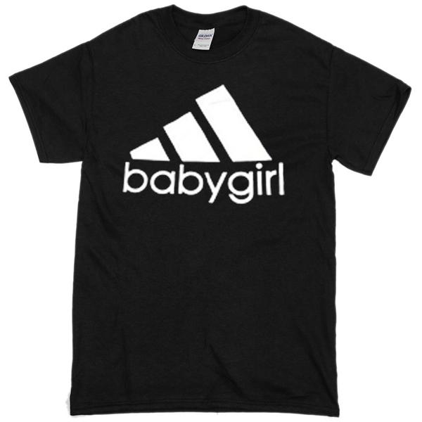 Babygirl adidas logo black T-shirt