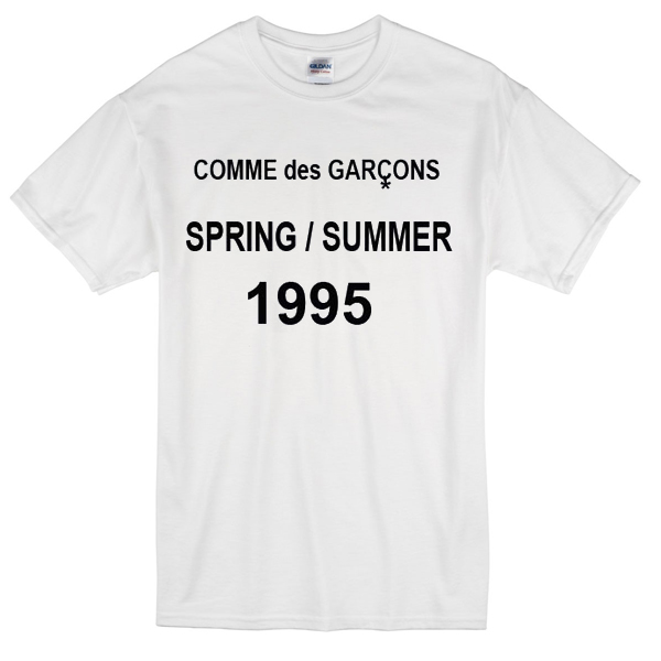 commes des garcons 1995 t shirt basic tees shop. Black Bedroom Furniture Sets. Home Design Ideas
