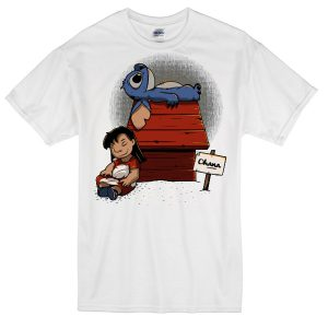 Stitch Snoopy parody T-shirt