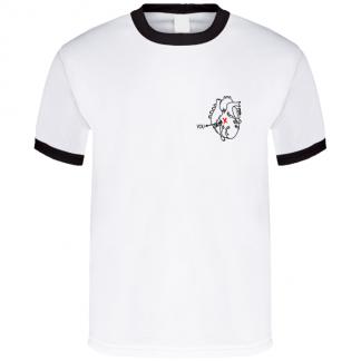 X Marks The Spot Love You Cute Little Anatomical Heart Fun Grunge Graphic T-Shirt
