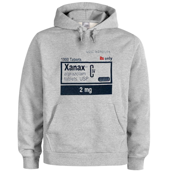Xanax 2 mg white color Hoodies