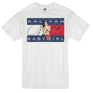 aaliyah Babygirl white T-shirt