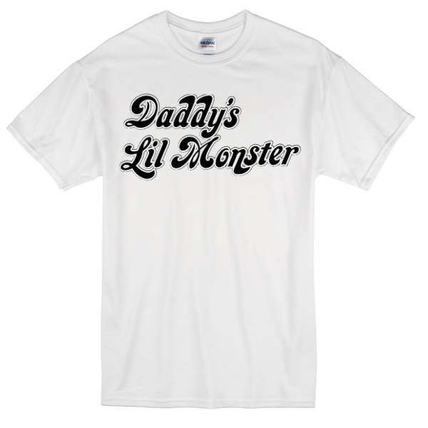 44529b3516d2 daddy's lil monster suicide squad harley quinn T-shirt - Basic tees shop