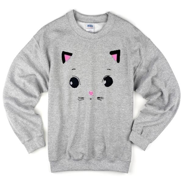 face cat cute Unisex Sweatshirts