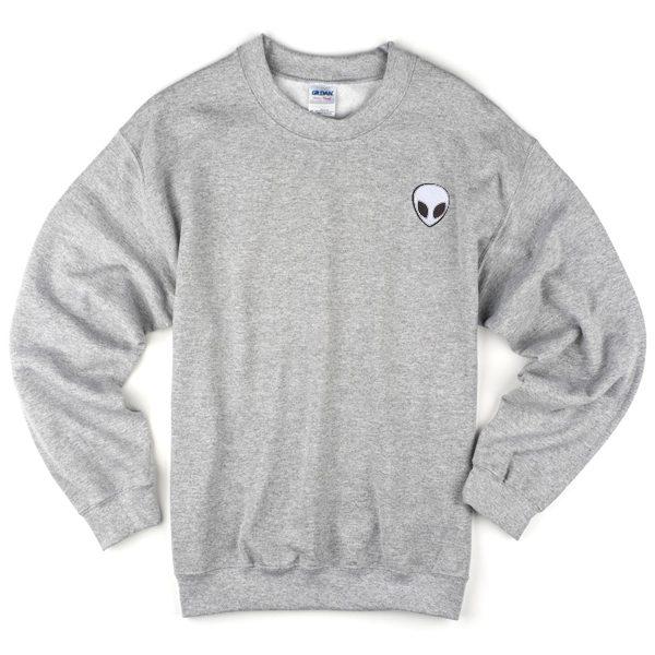 alien grey sweatshirt