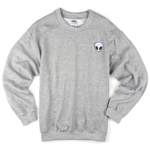 alien grey sweatshirt