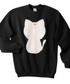 white moon kitty Sweatshirt