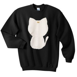 white moon kitty Sweatshirt