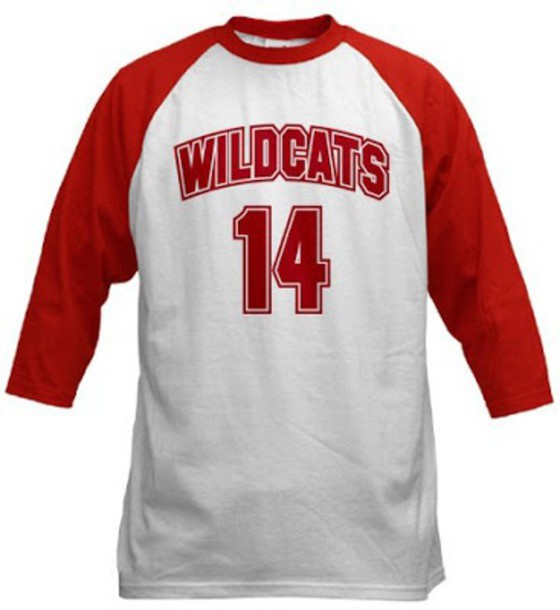 Wildcats 14 Raglan red T-shirt