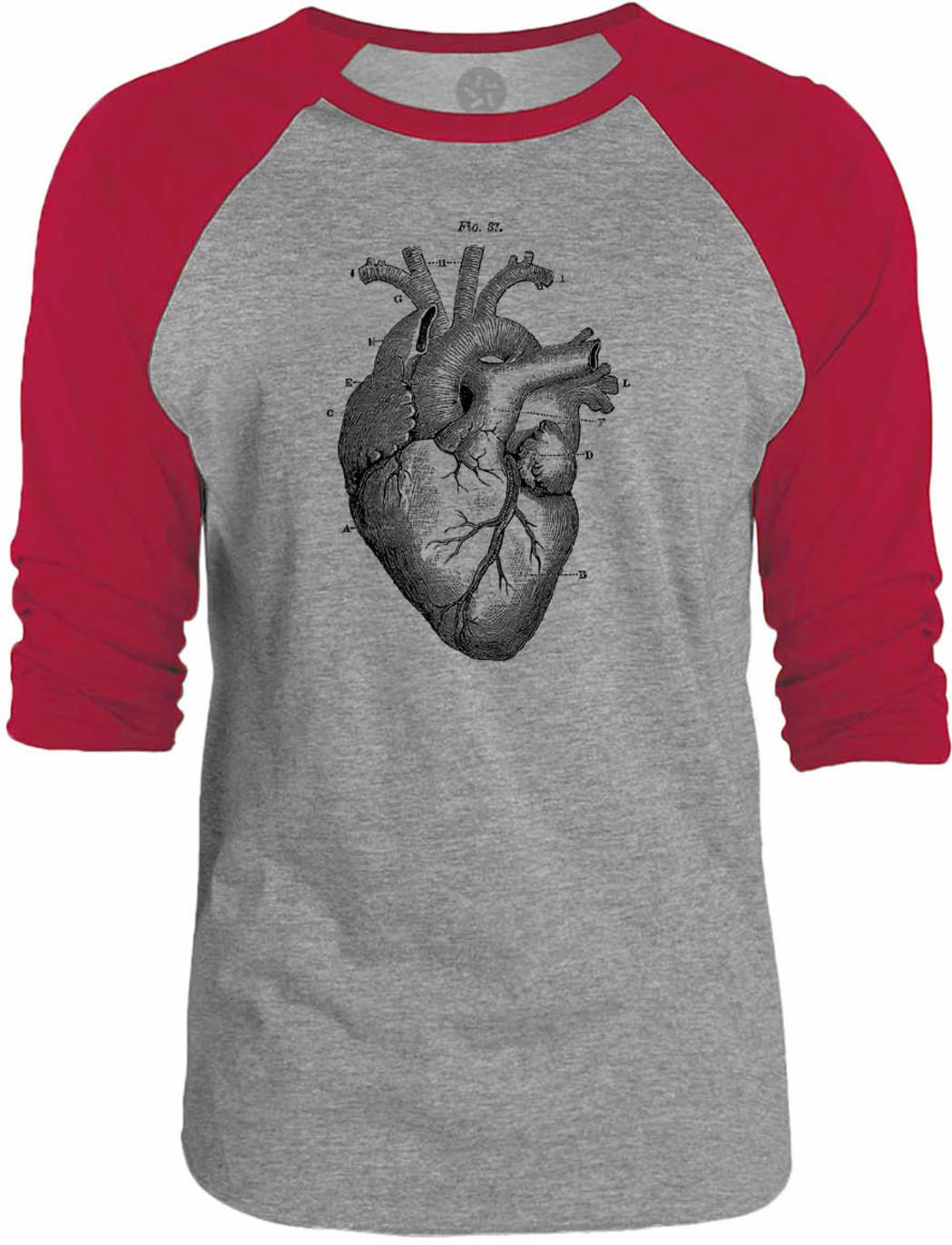 big texas heart anatomy raglan t-shirt - Basic tees shop