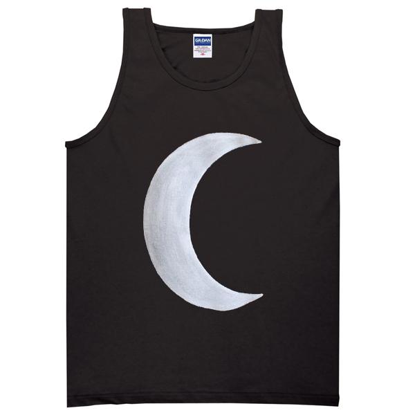 black crescent moon tanktop
