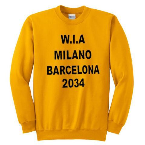 wia milano barcelona 2034 sweatshirt