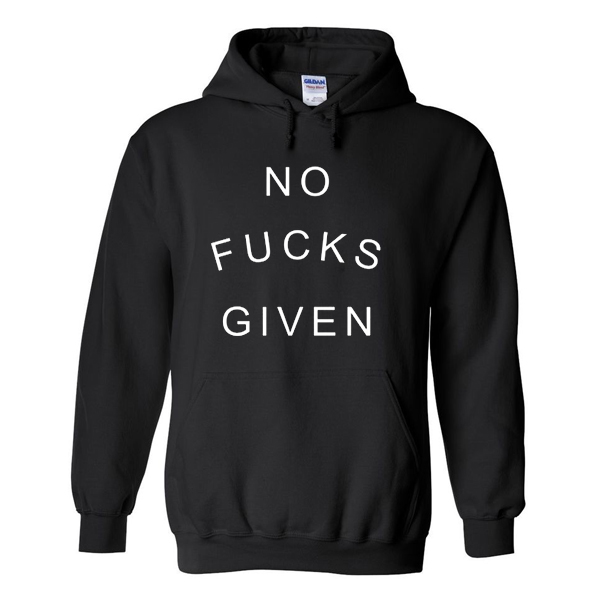 No Fuck Given black Hoodie