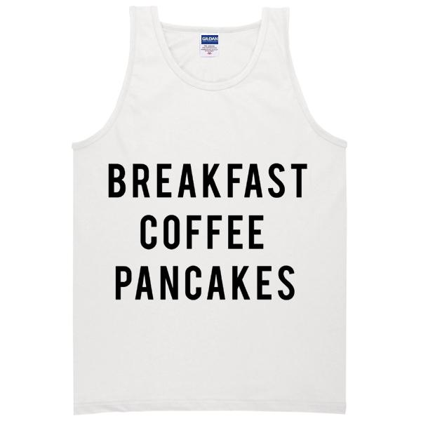 breakfast coffee pancakes tanktop