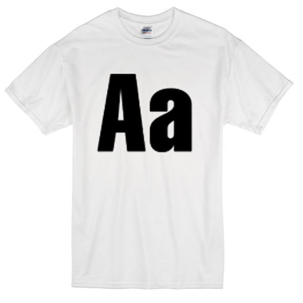 Aa alphabet T-shirt