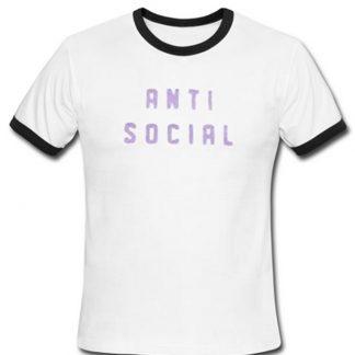 Anti social ringer T-shirt