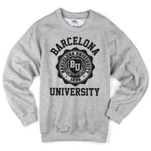Barcelona University grey sweatshirt