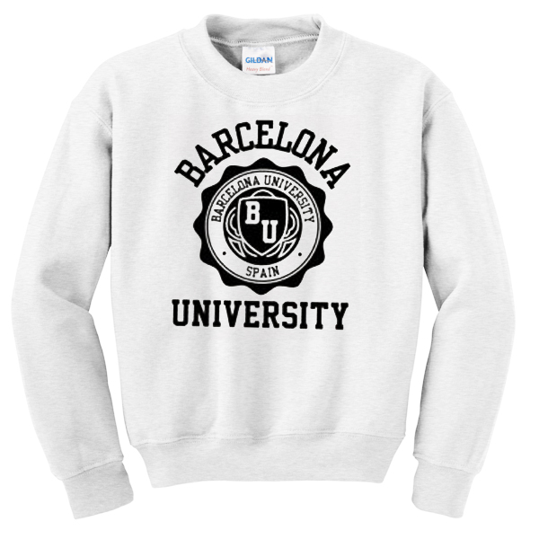 Barcelona University white Sweatshirt