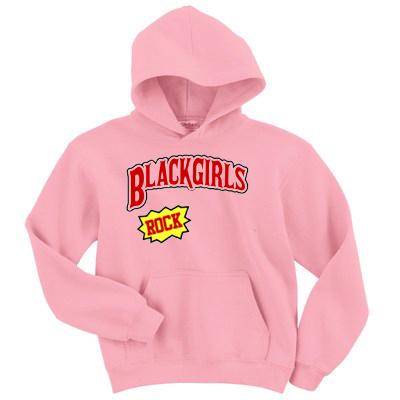 Black Girl Rocks pink Hoodie