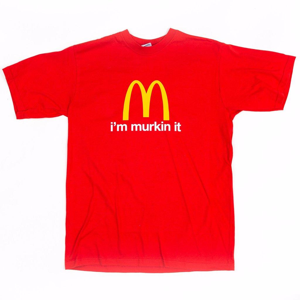 McD Parody Im Murkin It Red T Shirt