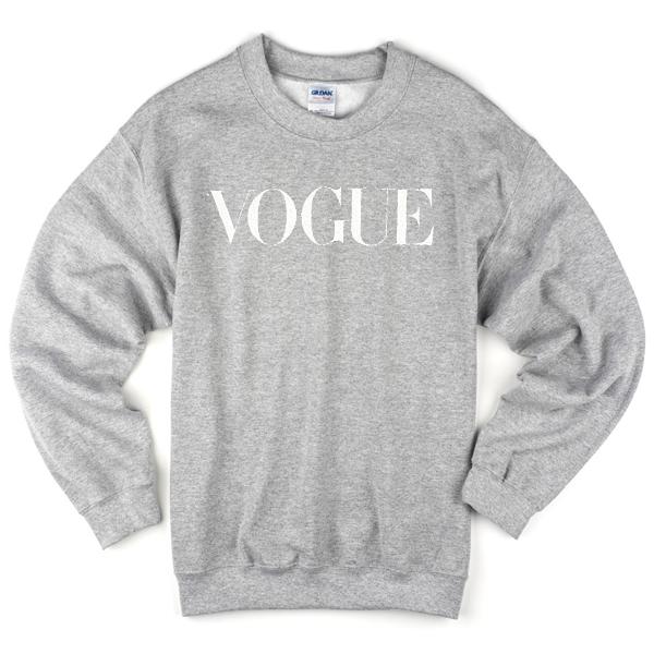 VOGUE grey Sweatshirt