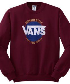 Vans logo burgundy Sweatshirt