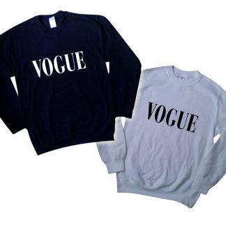 Vogue black and Grey Sweatshirt