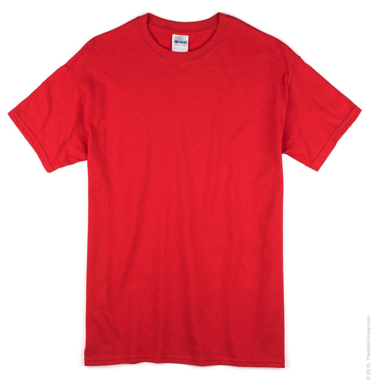 Red Blank T-shirt - Basic tees shop