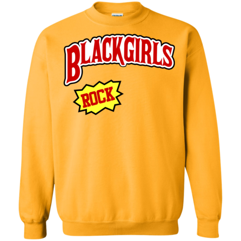 Blackgirls Rock Yellow Sweatshirt