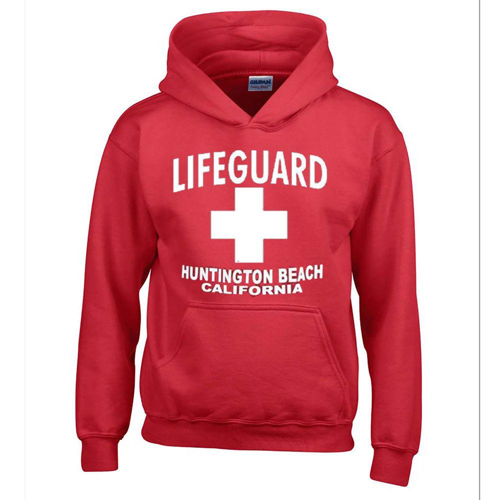 Lifeguard Huntington Beach Red Hoodie