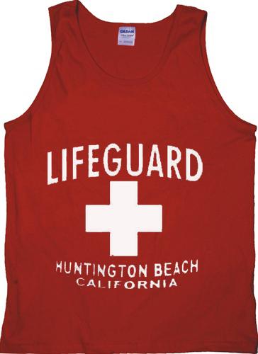 e7167cf138a Lifeguard Huntington Beach Red Tanktop - Basic tees shop