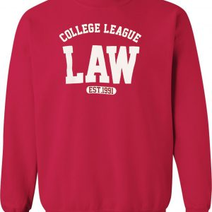 Red College League LAW est. 1991 Sweatshirt