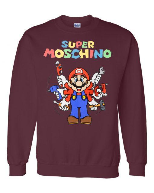 Super Mario Moschino Maroon Sweatshirt