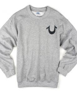 True Religion Logo Grey Sweatshirt