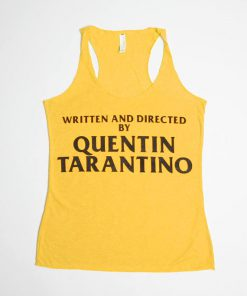 Written and Directed by Quentin Tarantino Orange Tanktop