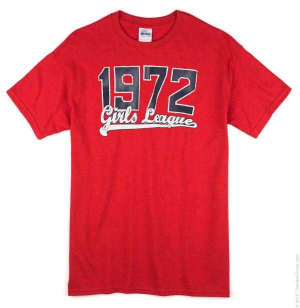 1972 Girls League Red T-shirt