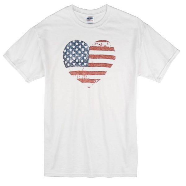 LOVE USA Flag T-shirt