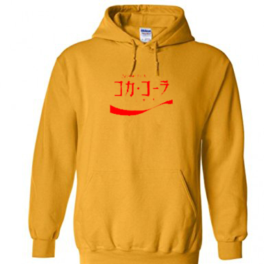 Coca Cola Japanese Language Yellow Hoodie