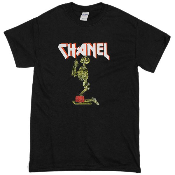 ac84330cec15a8 Chanel t shirt tee shirt rihanna tour comme hype ysl geek tee celine paris