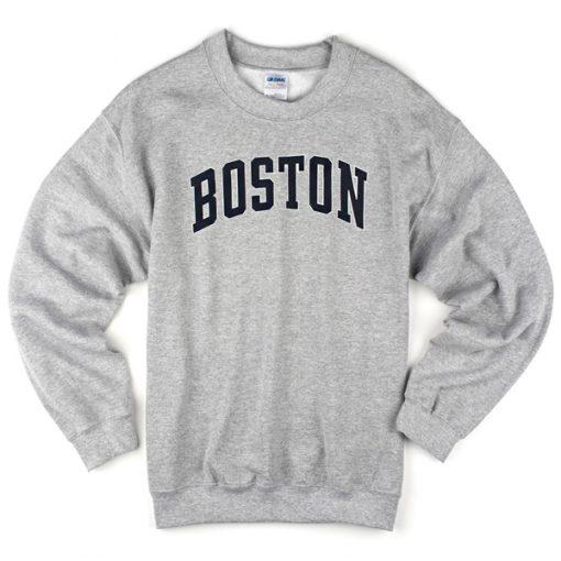 Boston Grey Sweatshirt