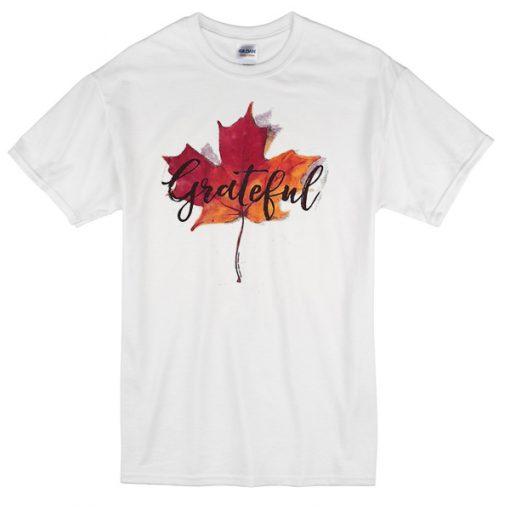 Grateful Autumn Leaves T-shirt