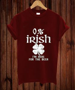 0% Irish Vintage St. Patrick's Day T-shirt